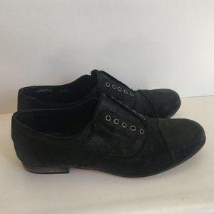 Aldo Lavorazione Artigiana black leather shoes